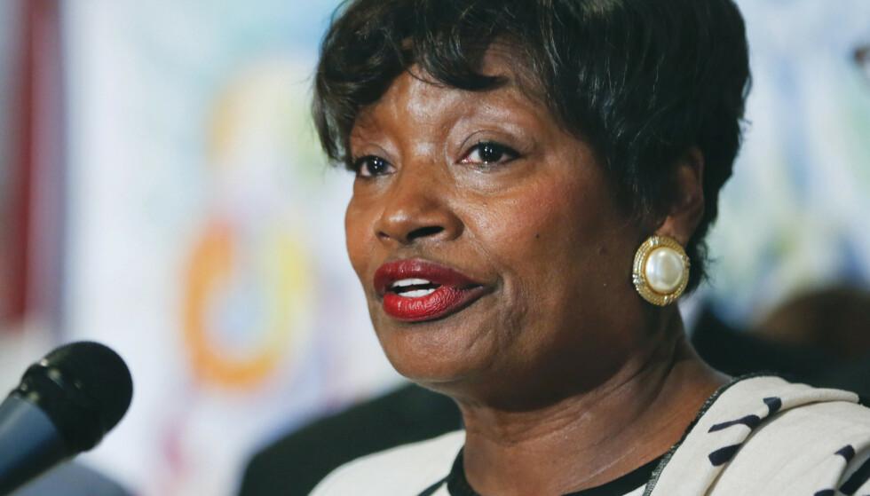 MAJORITETSLEDER: Andrea Stewart-Cousins, majoritetsleder i delstatsforsamlingen. Foto: AP / NTB