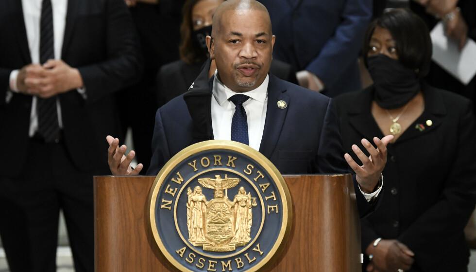 SPEAKER: Carl Heastie, speaker i delstatsforsamlingen i New York. Foto: AP / NTB