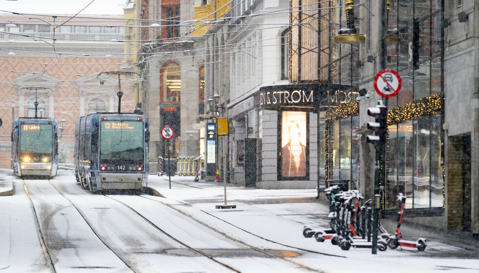SNØ: Det meldes snø i Oslo-området fra onsdag kveld. Foto: Fredrik Hagen / NTB