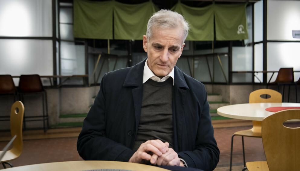 VARM STØTTE: Jonas Gahhr Støre minnes støtten han fikk som Arbeiderparti-leder av LO-leder Hans-Christian Gabrielsen som gikk bort bare 53 år gammel. Foto: Lars Eivind Bones / Dagbladet