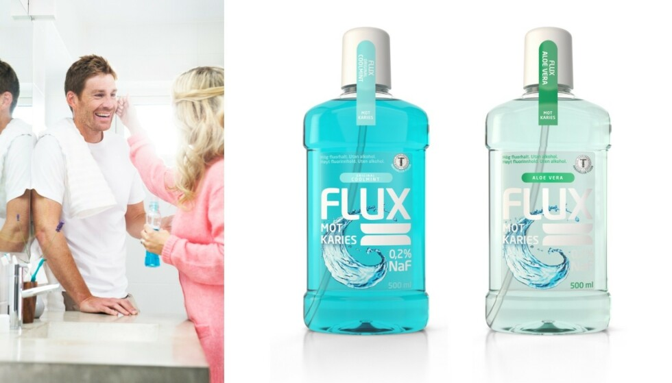I apotek: På apotekene kan du boltre deg i Flux-produkter og smaker, for eksempel favorittene Original Coolmint og Aloe Vera.