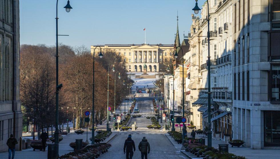 Nå åpnes Norge. Oslo har vært folketomt. Etter neste uke kommer nok folk tilbake i bybildet. Foto: Håkon Mosvold Larsen / NTB