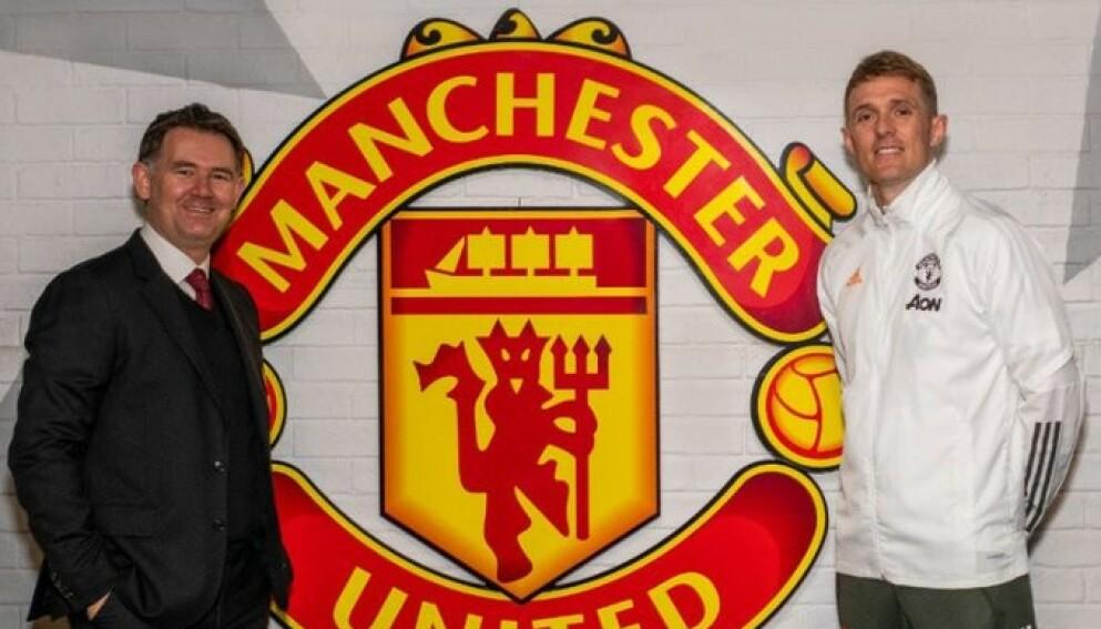 NY STILLING John Murtough (t.v) og Darren Fletcher har fått ny jobb i Manchester United. Foto: Manchester United