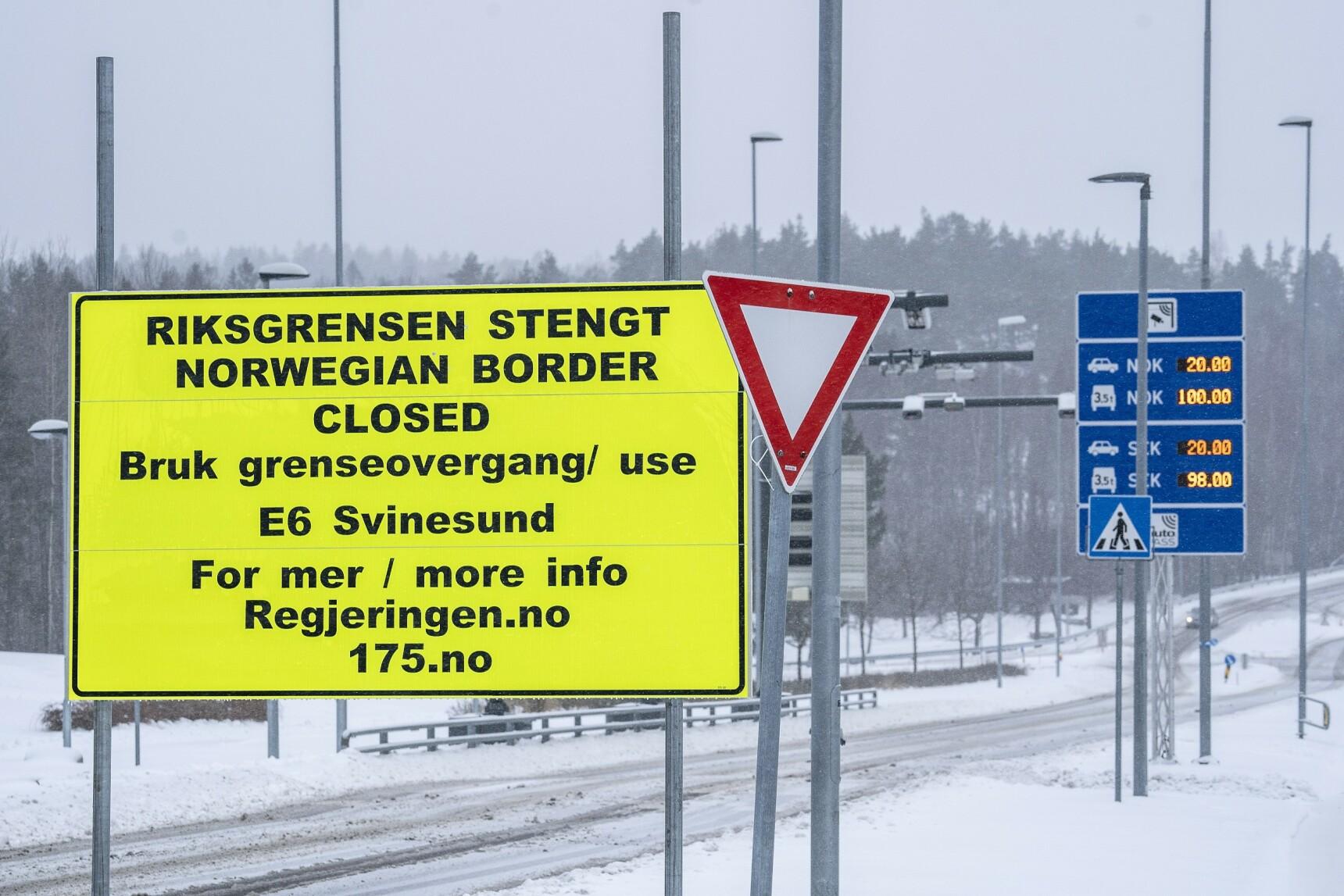 GRENSEN STENGT: Sverige innførte innreiseforbud fra Norge. Foto: Hans A.Vedlog/Dagbladet