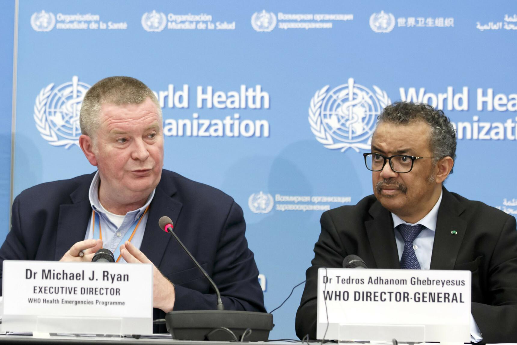 FOLKEHELSEKRISE: WHO erklærer internasjonal folkehelsekrise . Foto: AP/NTB