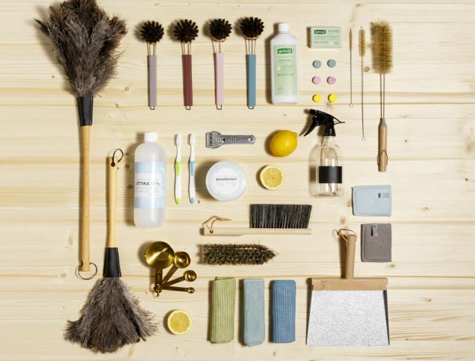 MILJØBRA: Sjekk etter miljømerking neste gang du trenger utstyr til rengjøringen hjemme.