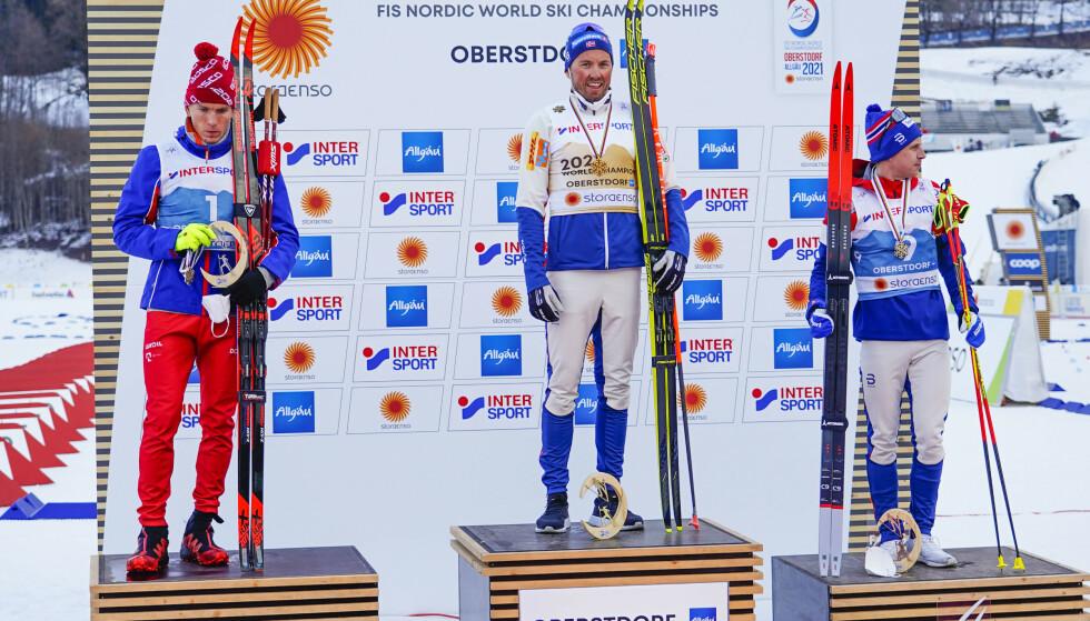 VERDENSMESTER: Emil Iversen stiller ikke til start under helgens verdenscupavslutning. Foto: NTB