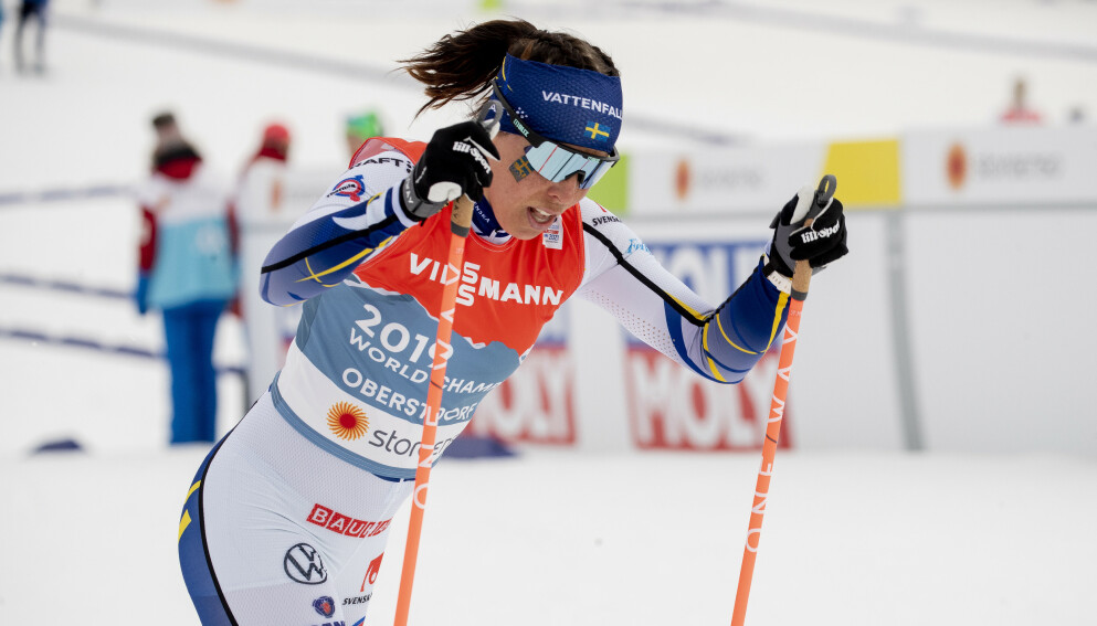 BRØT: Charlotte Kalla måtte bryte tremila under VM. Foto: Bjørn Langsem / Dagbladet