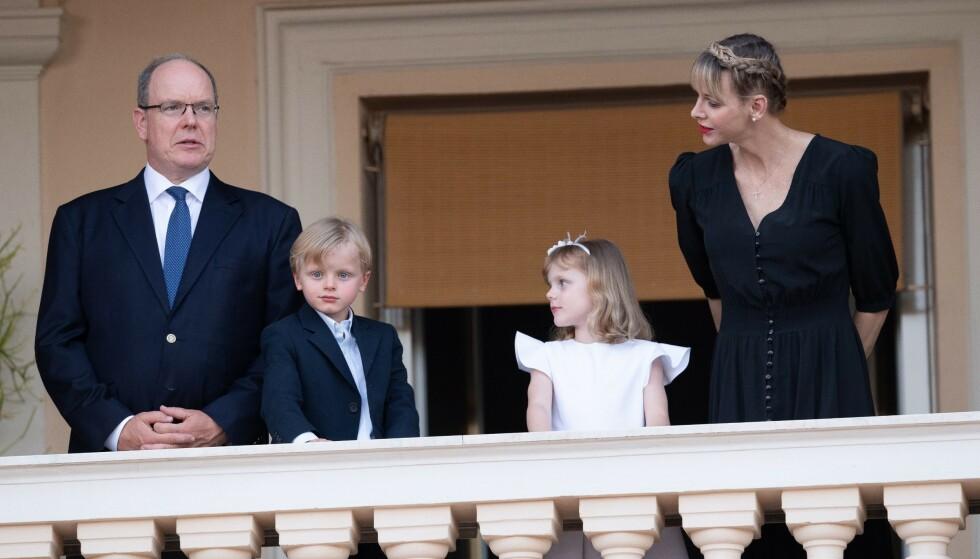 SNAKKER UT: Fyrst Albert deler åpent om tvillingene, prins Jacques og prinsesse Gabriella, som han har med kona, fyrstinne Charlene. Foto: SIPA /Shutterstock / NTB