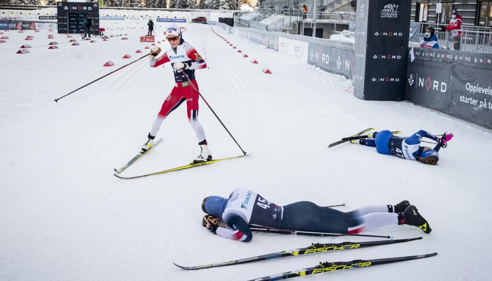 NM DEL EN: Therese Johaug under NM Granåsen i januar. Foto: Bjørn Langsem