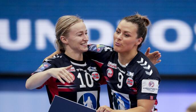 FÅ SOM ER BEDRE: Stine Bredal Oftedal (t.v) mener få kan takle rollen bedre enn Nora Mørk. Foto: Vidar Ruud / NTB
