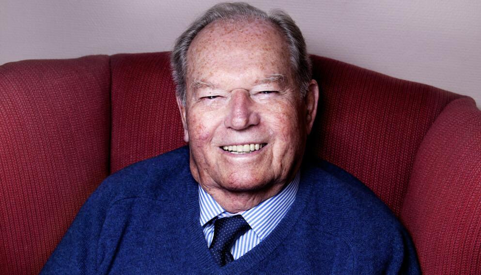 DØD: Den norske krigshelten, skipsrederen og industrigründeren Erling Lorentzen ble 98 år. Foto: Lars Myhren Holand / Dagbladet