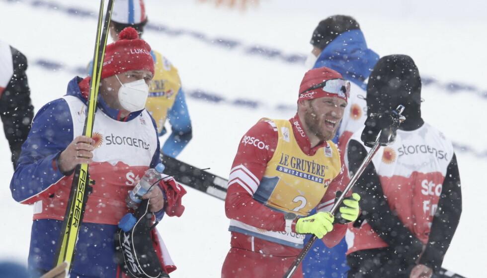 TRAGISK: Artem Maltsev fikk en tragisk beskjed noen timer etter dette bildet ble tatt under VM-stafetten. Foto: Bjørn Langsem / Dagbladet