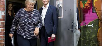 Jonas-jubel og Erna-elendighet: - Inspirasjon!