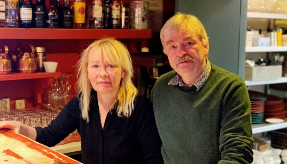 BEÆRET: Berit Kongsvik og ektemannen Frode Aga er beæret over at statsministeren valgte deres restaurant da hun skulle feire 60-årsdagen sin. Foto: Jostein Sletten / Dagbladet