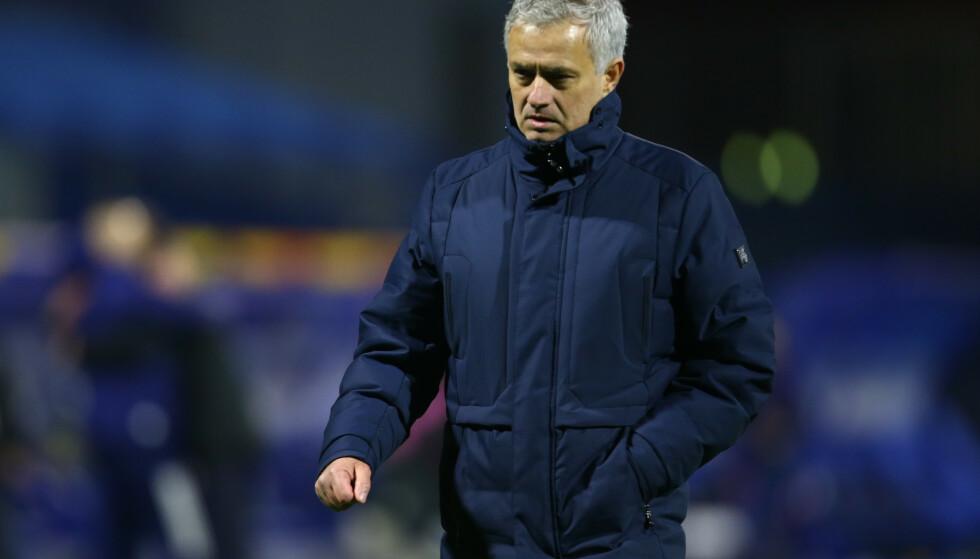SKUFFET: Det var en skuffet Jose Mourinho som møtte pressen etter sjokktapet mot Dinamo Zagreb. Foto: Reuters