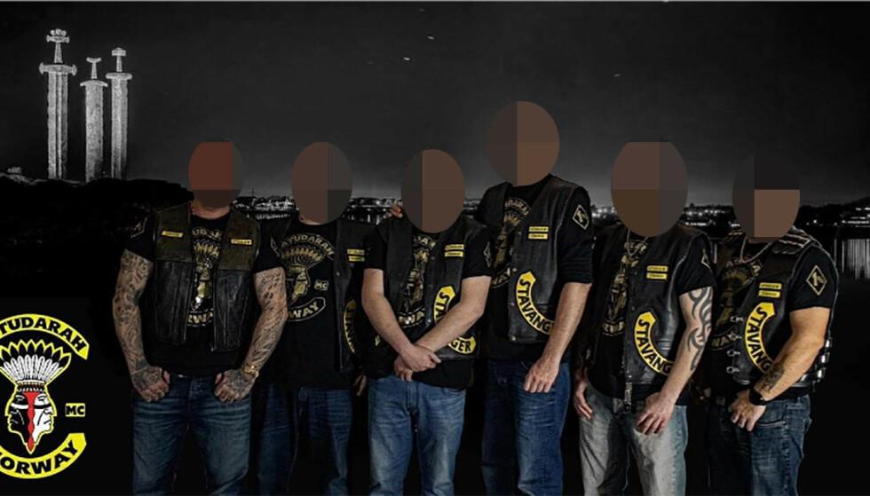 STAVANGERAVDELINGEN: Dette skal være seks av medlemmene i klubbens avdeling på Vestlandet som politiet kjenner til. Foto: Politiet.