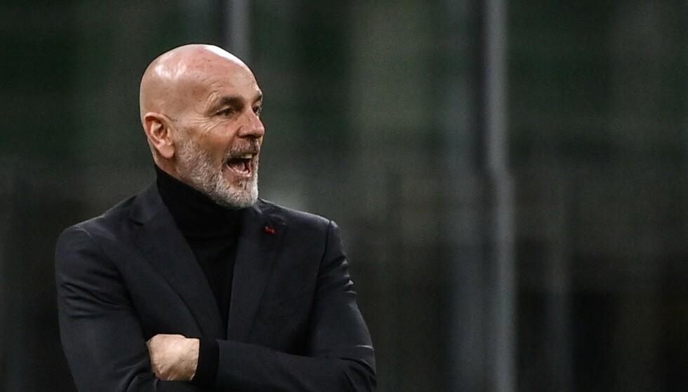 SINT: Stefano Pioli var sint på United-assistent Kieran Mckenna etter torsdagens Europa League-kamp. Foto: AFP