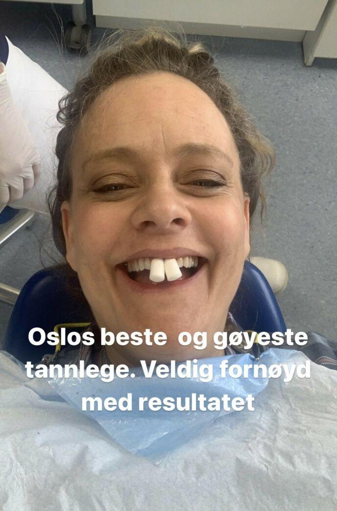 HUMOR: Steenstrup forteller til Dagbladet at hun ønslet å lage humor ut av situasjonen. Foto: Henriette Steenstrup / Instagram