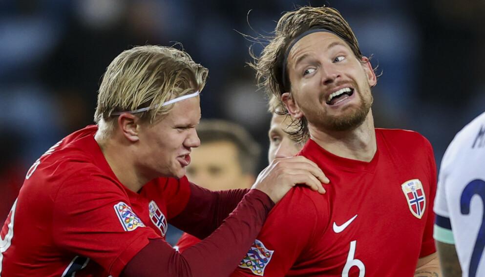 ALVORET I GANG: Erling Braut Haaland, Stefan Strandberg og fotballandslaget forbereder tre kamper i VM-kvaliken. Foto: Ørn E. Borgen / NTB
