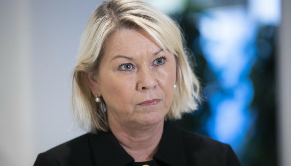 MÅ RYDDE: Justis- og beredskapsminister Monica Mæland har varslet at hun avventer riksadvokatens redegjørelse. Foto: Berit Roald / NTB