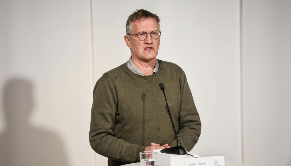 BEKYMRET: Statsepidemiolog Anders Tegnell er bekymret for økende smitte i Sverige de siste to ukene. Foto: Fredrik Sandberg / TT / AP / NTB