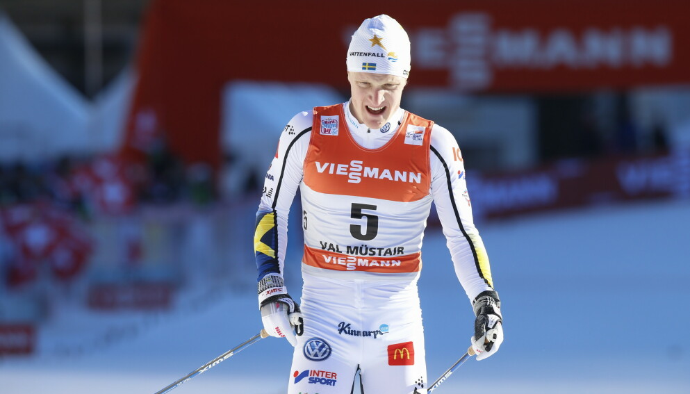 SKUFFET: Jens Burman under Tour de Ski tidligere i år. Foto: Terje Pedersen / NTB