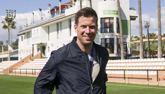 TV 2-EKSPERT: Jesper Mathisen følger landslaget tett for TV 2 denne uka. Foto: Geir Olsen / NTB