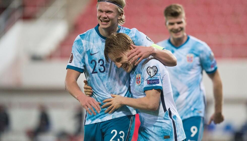 TØFF FØRSTE OMGANG: Norge sleit med å score mot Gibraltar i første omgang. Foto: JORGE GUERRERO / AFP /NTB