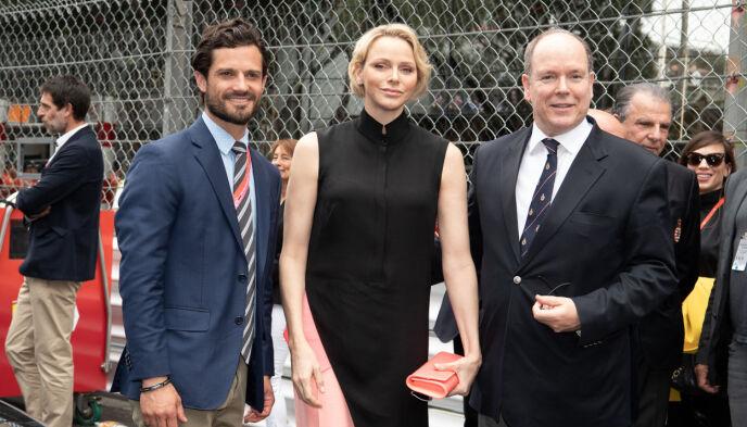 FORMEL 1: Fyrstefamilien har ofte de beste plassene under Monaco Grand Prix. Her avbildet med svenske prins Carl Philip i 2019. Foto: David Niviere / Abacapress / NTB