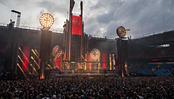 STORE: Rammstein samler gigantiske folkemengder til konsertene sine. Foto: Frank Karlsen / Dagbladet