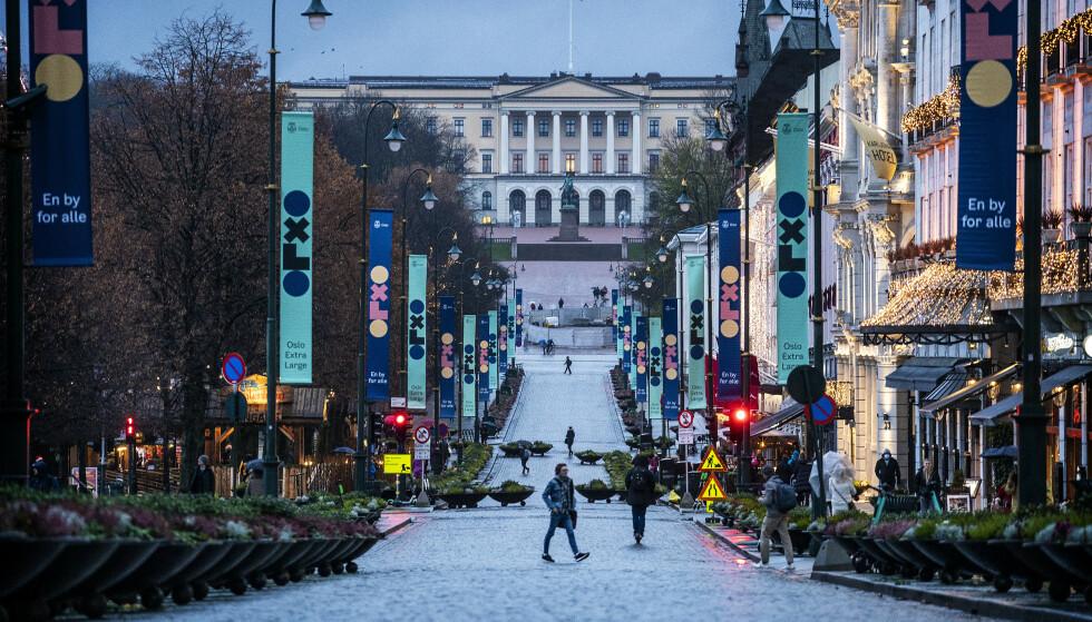 FESTING I OSLO: Politiet i Oslo har fått en del meldinger om festing, og har sett eksempler på at folk har løpt nærmest barbeint til skogen når politiet har nærmet seg. Foto: Hans Arne Vedlog / Dagbladet