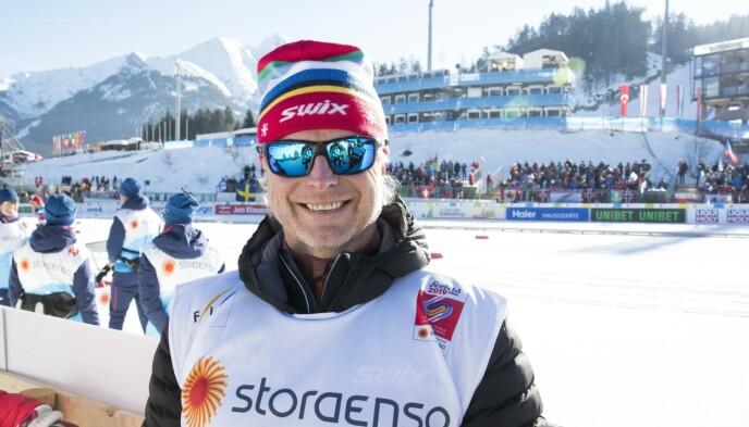 EKSPERT: Åge Skinstad under sprint lag i ski-VM i Seefeld. Foto: Terje Pedersen / NTB