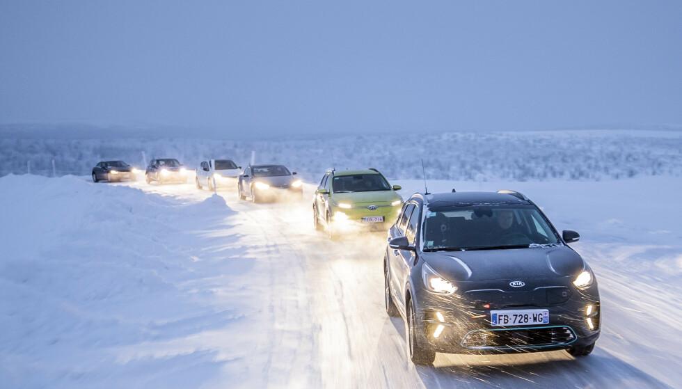 HVORFOR DE BESTE?: De seks elbilene vi har plukket ut som de beste kjøpene, har vært blant de beste i våre tøffe vintertester, samtidig som de gir deg god rekkevidde for pengene. Foto: Markus Pentkainen