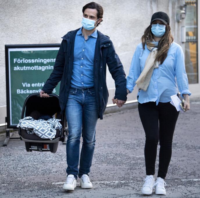 TRE SØNNER: Prinseparet fikk sønn nummer tre. Fra tidligere har de Alexander og Gabriel. Foto: Pontus Lundahl / TT / NTB