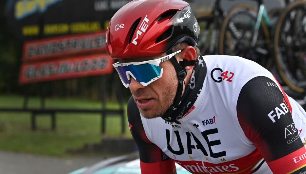 HEKTET AV: Alexander Kristoff inn til en 13.plass i sykkelrittet Gent-Wevelgem. Foto: AFP/NTB