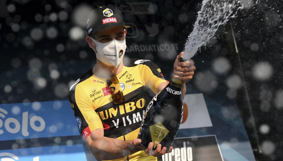 BELGISK SEIER: Van Aert vant sykkelrittet Gent-Wevelgem. Foto: NTB/AFP