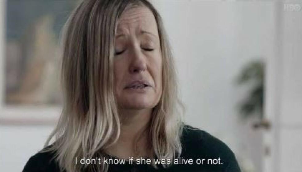 BOMBE: Sara Svensson bryter tausheten for første gang i TV-serien. Foto: HBO