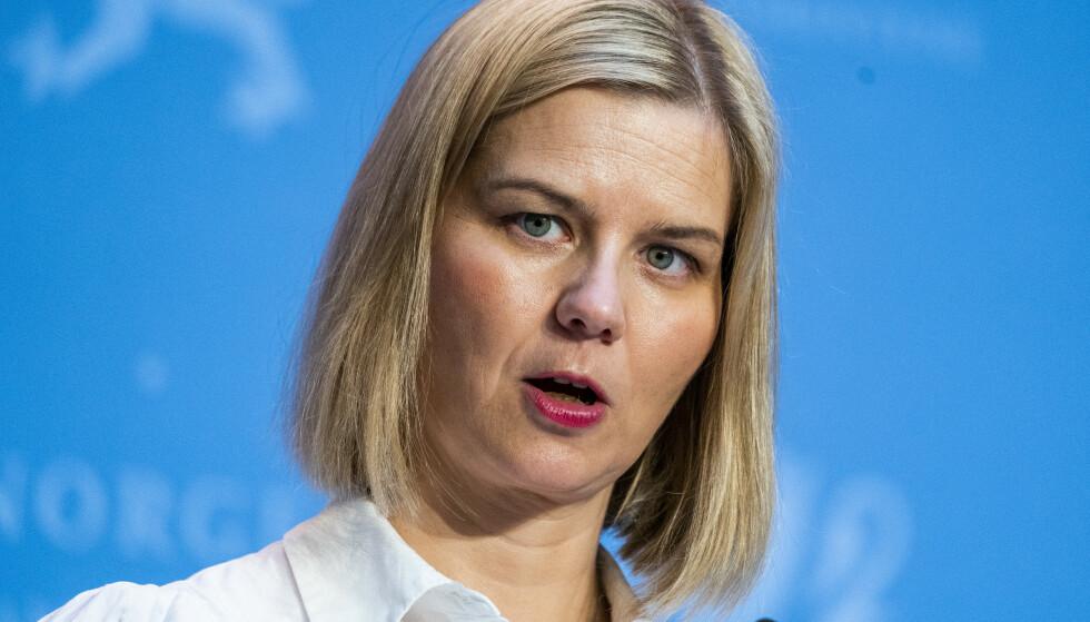 BEKLAGER: Kunnskaps- og integreringsminister Guri Melby (V) legger seg flat etter en kommentar i VG før helgen. Foto: Håkon Mosvold Larsen / NTB
