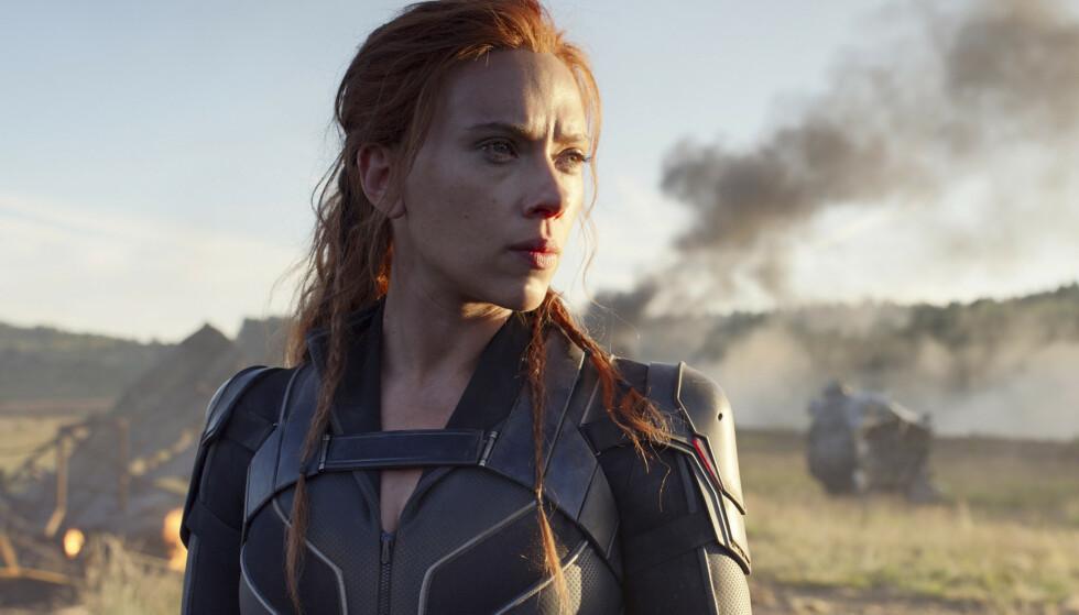 FILMNEKT: Disneys nye film Black Widow skal lanseres eksklusivt på Disney+. Norske kinoer fortviler over at flere filmer ikke får eksklusivitet på kinolerretet. Foto: NTB/AP.