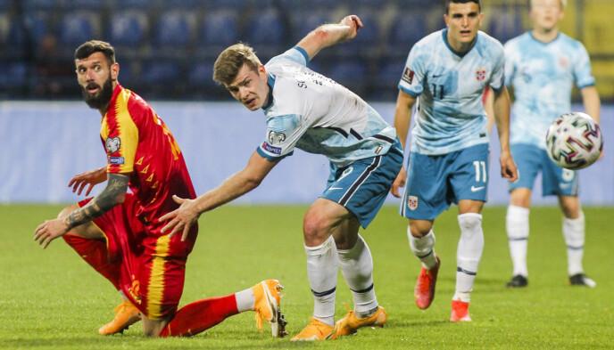 NORGES BESTE: Alexander Sørloth blir belønnet med 8 av 10 poeng. Foto: Aleksandar Djorovic / NTB