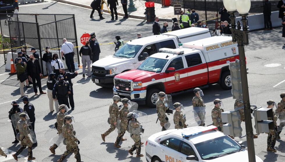 FORSVARET I GATENE: Hundrevis av soldater ble sendt ut i gatene i etterkant av hendelsen. Foto: Tom Brenner / Reuters / NTB