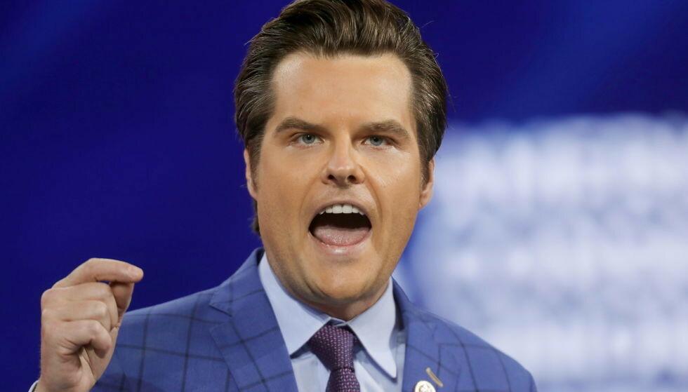 I HARDT VÆR: Den republikanske kongressrepresentanten Matt Gaetz fra Florida anklages for alvorlige forbrytelser. Han avviser alle anklager. Foto: Octavio Jones / Reuters / NTB