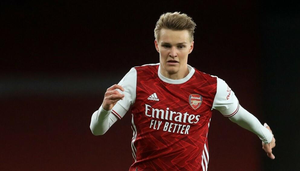 SVAK: Martin Ødegaard kunne ikke hindre at Liverpool gikk seirende ut av storoppgjøret på Emirates lørdag kveld. Foto: Adam Davy / POOL / AFP