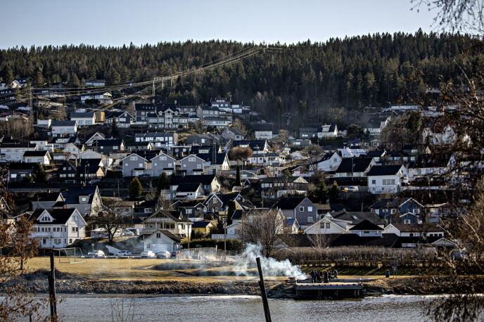 HØYT SMITTETRYKK: Rælingen kommune er blant kommunene i Norge som har høyest smittetrykk. Foto: Nina Hansen / Dagbladet