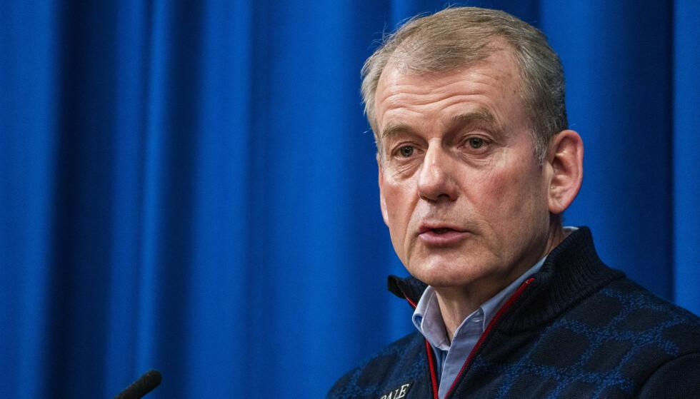 TIDLIGERE DOPING BØR STRAFFES: Skipresident Erik Røste mener foredlingsfristen i dopingsaker bør være lang. Foto: Håkon Mosvold Larsen / NTB