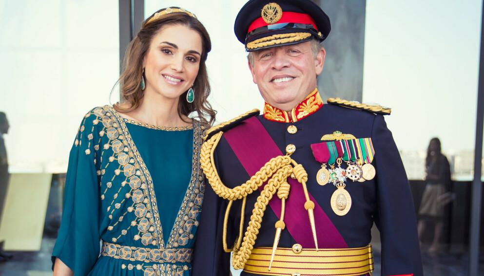 JORDANSK IDYLL: Kong Abdullah og dronning Rania i 2016, under 100-årsmarkeringen av den arabiske oppstanden mot Det osmanske riket. Arkivfoto: Richard Gardner/Rex /NTB Scanpix