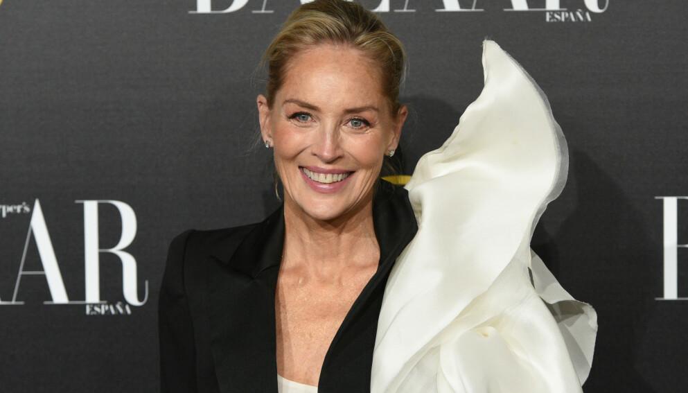 FJERNET BARNET: Sharon Stone gjennomgikk en abort allerede som 18-åring. Foto: John Milner / SOPA Images / Shutterstock / NTB