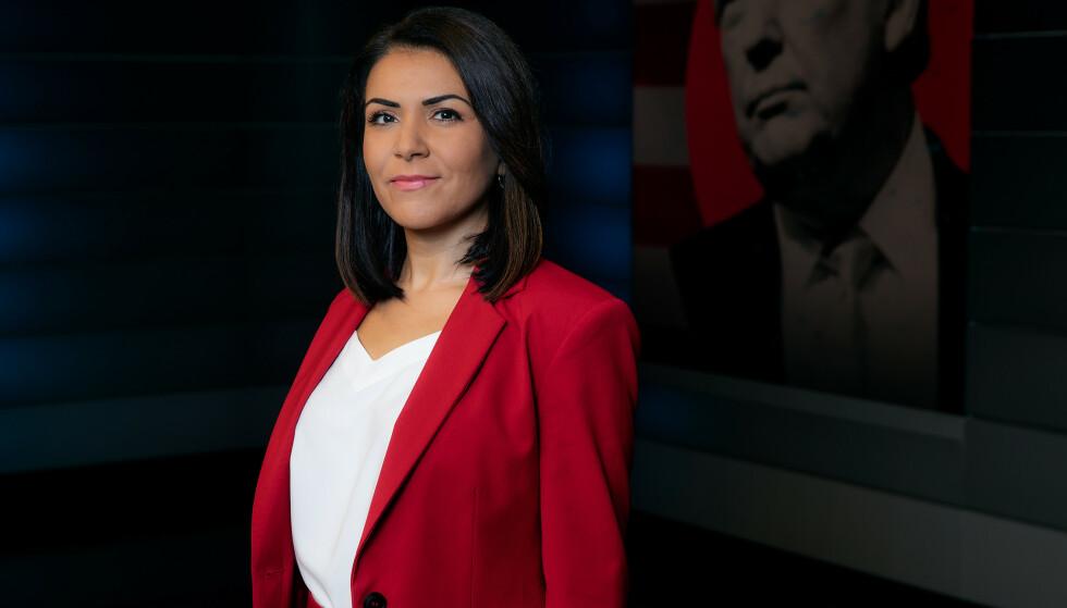 HYLLES MED SPRÅKPRIS: Rima Iraki utmerker seg med effektiv formidling uten jåleri, mener Riksmålsforbundet. Foto: NRK