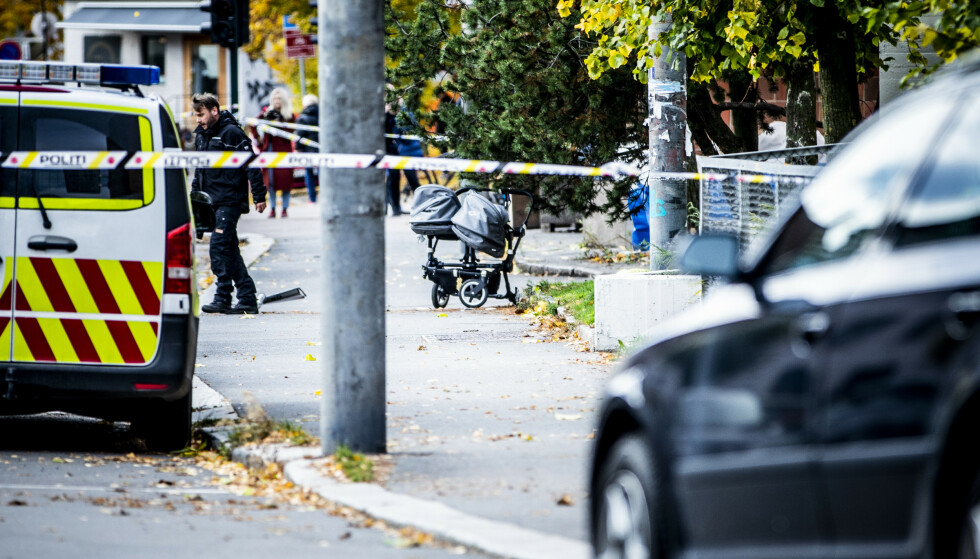BABYER SKADD: To babyer på sju måneder ble lettere skadd da ambulansen traff barnevogna. Foto: Christian Roth Christensen / Dagbladet